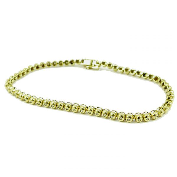 Diamond Tennis bracelet in 9ct yellow gold