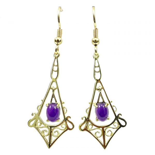 Amethyst Victorian drop earrings