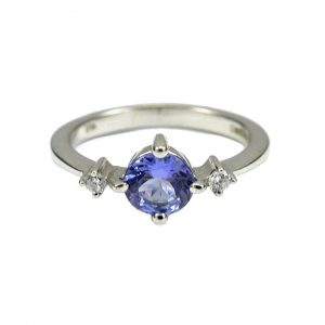 Tanzanite diamond 3 stone ring